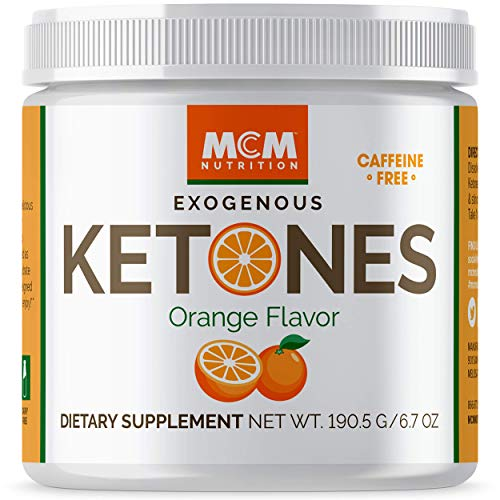 MCM Nutrition – Exogenous Ketones Supplement & BHB - Caffeine-Free, Ketone Drink for Ketosis - Instant Keto Mix, Puts You into Ketosis Quick & Helps with The Keto Diet (Orange Flavor - 15 Servings)