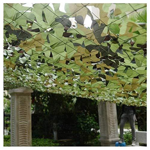 Esercito Mimetico Rete Verde, 2x3m Giardino Balcone Ombra Decorazione Bosco Camo Net Carport Campeggio Caccia Tiro Nascosta Costruzione Ripari Partito Piscina Gazebo 4m5m6m8m10m ( Size : 5*5M )