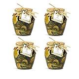 (Olio E...) 4 Vasi di Zucchine Pugliesi in Olio Extravergine di Oliva da 270gr - Azienda Bisceglia