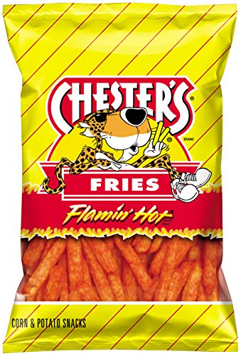 Chester's Fries Flamin' Hot Flavor 5.5 oz bag (Pack of 2)