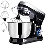 Stand Mixer, 5 Quarts 8-Speed Tilt-Head Food Mixer with Removable Stainless Steel Mixing Bowl, Kitchen Mixer for Baking Includes Beater, Dough Hook, Whisk & Splash guard