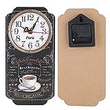HERCHR Orologi da Parete 30 x 14,7 cm Wall Clock Rettangolare Vintage Europeo con Decorazione Orologio Decorativo da Giardino Orologio Parete Decorazione Parete