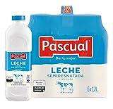 Pascual Leche Semidesnatada, Pack de 6 x 1200ml