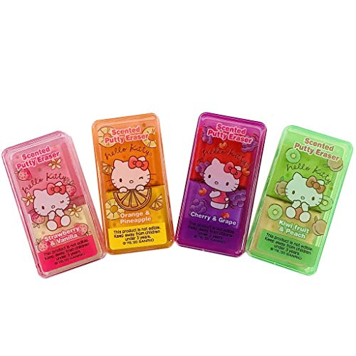 Sanrio JP Hello Kitty Fabulous Scented Putty Erasers Set of 4 Made in Japan