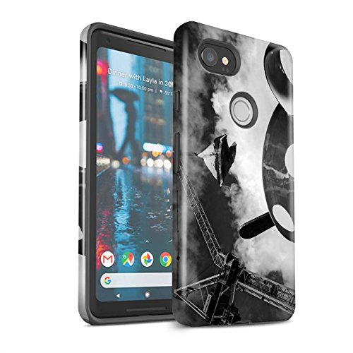 Stuff4 Schokbestendig polijsthoesje/cover/case/behuizing/telefoon voor Google Pixel 2 XL/Fantasie een kopje thee/afbeelding