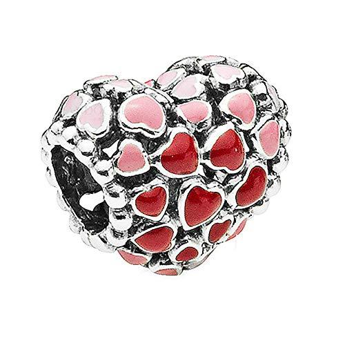 PANDOCCI 2018 Saint-Valentin Éclat d'amour Coeur Authentique 925 Argent BRICOLAGE Convient pour Original Pandora Bracelets Charme Bijoux De Mode
