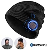 Bluetooth Beanie,Bluetooth 5.0 Hat,Built-in Wireless Headphones&Mic- Unique Gifts for Men Women,Outdoor Running,Hiking,Skiing,Dog Walking