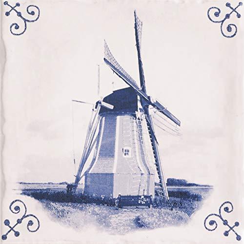 Linea Uno - Delft-blaue Fliese antike 15 x 15 cm - 531042