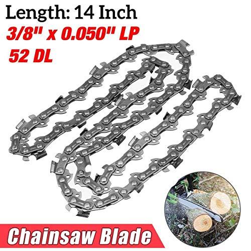 ZHFENG 14 Zoll Kettensäge Garten Legierung solide Kette Hartmetall Chainsaw 52 Link Bar 3/8 x 0.050 Teile LP Werkzeuge Zubehör