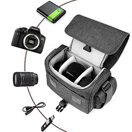 Qomolmカメラケース一眼レフカメラバッグデジタルカメラ用バッグショルダーバッグスリングバッグカメラリュックカメラケース防水撥水加工NikonCanonSonySamsung等2way多機能大容量男女兼用おしゃれシンプルファッションカメラジャケットアウトドア旅行撮影山登り手持ち軽量通気雨用カバー付きDSLRSLR構造調整可一年間質量