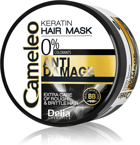Cameleo - Keratin Mask for Extremely Damaged Hair - Regenerating, Nourishing, Moisturising Repair Treatment for Brittle and Dry Hair - Biomimetic Keratin & Argan Oil - Thermo Protection - Salt and Paraben Free - 200ml