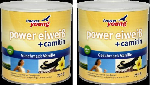 Forever Young Power Eiweiss, 2 Dosen a 750g, Vanille, siehe auch Dr. Strunz