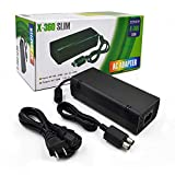 AC Adapter for Xbox 360 Slim,Yudeg Power Supply with Cord Replacement Charger Power Brick for Xbox 360 Slim Console