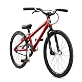 Mongoose Title Mini BMX Race Bike, 20-Inch Wheels, Beginner to Intermediate Riders, Lightweight Aluminum Frame, Internal Cable Routing, Red