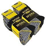 10 Paar kurze Arbeitssocken Herren Kurzsocken Baumwolle WORK Socken (43-46, 10 Paar | Schwarz/Grau Meliert)
