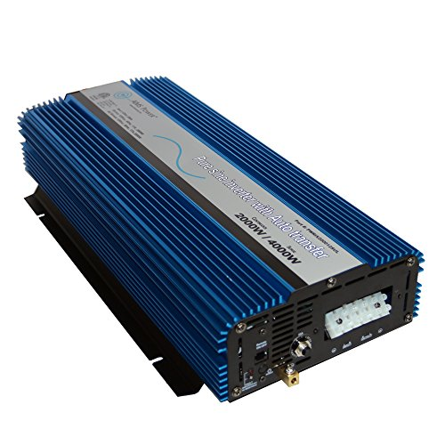 AIMS POWER PWRIX200012SUL 2000 Watt Pure Sine Inverter with Transfer Switch 12 VDC to 120 VAC ETL Listed