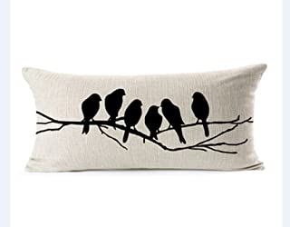 Best black and white bird pillow Reviews