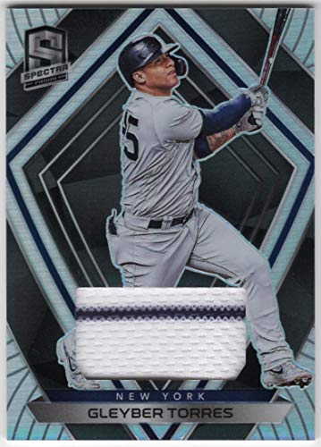 Gleyber Torres 2020 Panini Chronicles Spectra Swatches Prizm Refractor Jersey Card with Pinstripe New York Yankees