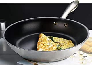 HOMICHEF 10 Inch Nonstick Fry Pan Nickel Free Stainless Steel - Omelet Pan 10 Inch Nonstick Pan PFOA Free - Teflon Nonstick Frying Pans 10 Inch Induction Glass Compatible - Omelette Pan Nonstick 7016