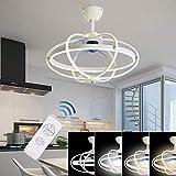 Equipo para el hogar Ventilador de techo moderno y lujoso con iluminación Luz de techo LED regulable Control remoto Ventilador ajustable Ventilador de techo silencioso Sala de estar nórdica Dormito