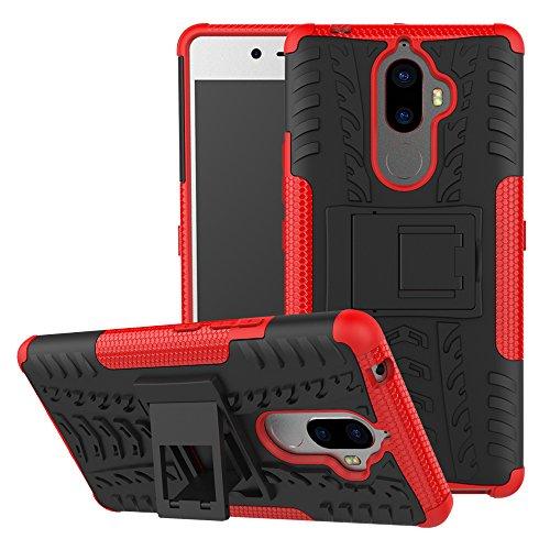 TiHen Funda Lenovo K8 Note 360 Grados Protective con Pantalla de Vidrio Templado. Caso Carcasa Case Cover Skin móviles telefonía Carcasas Fundas para Lenovo K8 Note - Roja
