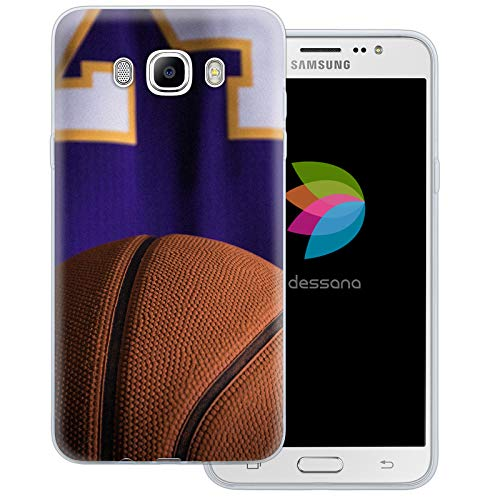 dessana Basketball transparente Schutzhülle Handy Case Cover Tasche für Samsung Galaxy J7 (2016) Basketball Spieler