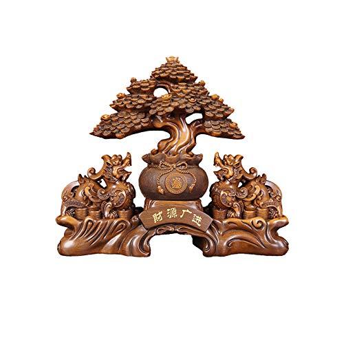 KGDC Escultura Ornamentos Dedicraft destacado Decoración de la Lucky PI XIU CASTAR Register Empresa Contador PI XIU Decoración Decoración for su casa Regalo de Apertura Decoración del Escritorio