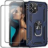 ruiyoupin Funda para iPhone 12 Pro Max + cristal blindado, 2 piezas, carcasa de silicona TPU + PC Cover para iPhone 12 Pro Max, funda 360 grados de protección para iPhone 12 Pro Max teléfono móvil