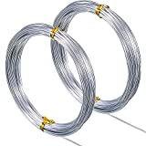 65.6 Feet Silver Aluminum Craft Wire, Soft and Flexible Metal Armature Wire for DIY Manual Arts and Crafts (1.5 mm)