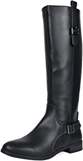 TOETOS Women's Knee High Winter Riding Wide Calf Boots