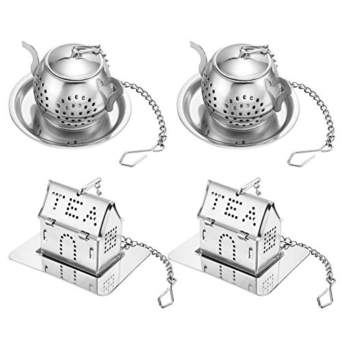 Buy Bargain Vaorwne Tea Infuser-Stainless Steel Loose Leaf Tea Strainer with Chain and Drip Trays-Te...