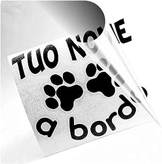 ADESIVO CANE A BORDO PER AUTO CON IL NOME DEL CANE DOG ON BOARD
