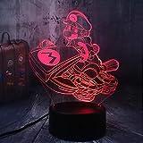 Lámpara de noche LED 3D multicolor de Super Mario, lámpara de escritorio USB, decoración para el hogar, niños, juguete, cumpleaños, Navidad y Año Nuevo.