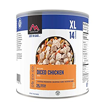 Mountain House Cooked Diced Chicken | Freeze Dried Survival & Emergency Food | #10 Can | Gluten-Free 30235-Parent