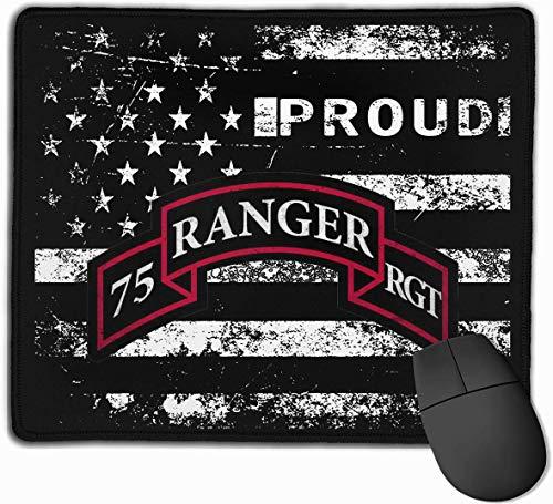 US Army Retro 75th Ranger Regiment - Juego de almohadillas de ratón con base de goma antideslizante para ordenadores, portátiles, oficinas y hogares