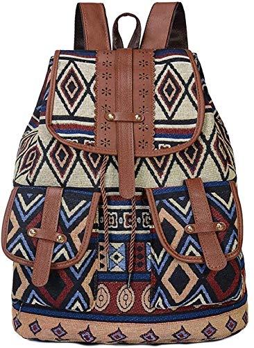 tgbnh Zaino, Signore Zaino da Viaggio Short Weekend Bagaglio Borsa da Viaggio Girl Girl Backpack Tela Stile Retro Stile Zaino (Color : Style One)