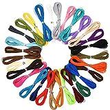 Demine Craft Cord para Pulseras de Bricolaje Collar Cuerda Cordones para La Fabricación de Joyas Cordón de Algodón Encerado Hilo Trenzado 30 Piezas 10M 3 Hilos Cordones de 1 mm