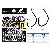 ハヤブサ(Hayabusa) シングルフック 小袋バラ鈎 ムツヒネリ無し ケイムラ 18号 20個 白 B185P1