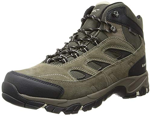 Hi-Tec Men's Logan Waterproof Hiking Boot,Smokey Brown/Olive/Snow,10.5 M US