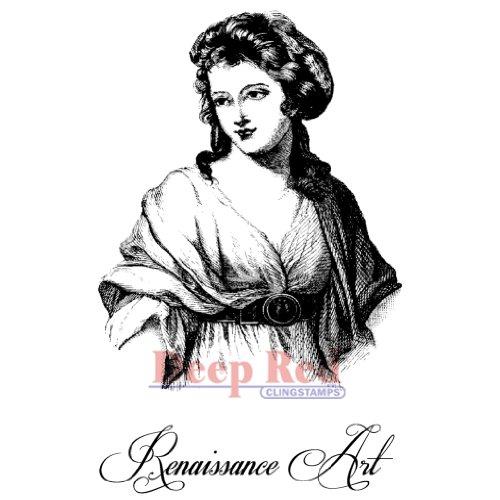 , Deep Red, damit die Stempel 5.08 cm x 8.25 -Renaissance Girl cm