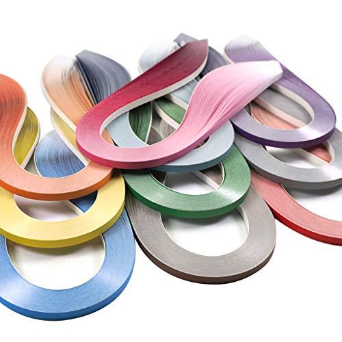 JUYA Papier Quilling Farbverlauf Serie Set 10 Farben QP388 (10 Packungen Individuelle, Breite: 3mm)