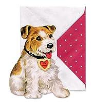パンチスタジオ バレンタインカード 封筒セット Trusty Terrier