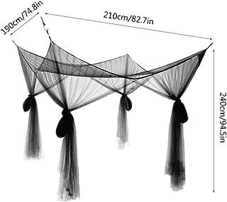Large Mosquito Net Double Bed Gauze 4 Corner Post Mosquito Net Bedroom Decoration Romantic Hanging Bed Valance zhengpingpa...