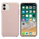 CABLEPELADO Funda Silicona iPhone 11 Textura Suave (Rosa Arena)