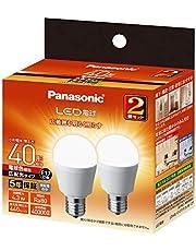 パナソニック LED電球 口金直径17mm 電球40W形相当 電球色相当(4.3W) 小形電球・広配光タイプ 2個入 密閉器具対応 LDA4LGE17ESW2T