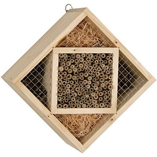 Gardigo Insektenhotel Bausatz Made in Germany | Bastelset für Kinder zum selber bauen | Insektenhaus, Nisthilfe für Bienen, Marienkäfer | 25 x 25 x 13 cm
