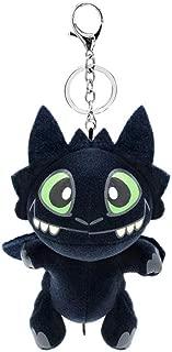HitHopKing How to Train Your Toothless Plush Night Fury Plush Stuffed Animal Doll Toys Children Gift Cute Keychain Plush (1PCS)