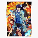 Fujouou Kyoto Weapon Fire War Anime Battle Hen Sleeve Animation Impressive and Trendy Poster Print Decor Wall or Desk Mount Options