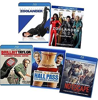 Owen Wilson 5-Movie Blu-ray Collection  Zoolander / Zoolander No 2  The Magnum Edition / Drillbit Taylor  Extended Survival Edition / Hall Pass / No Escape [5-Film Bluray Set]