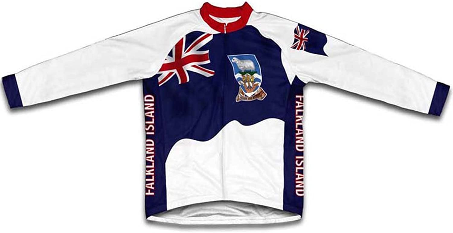 Falkland Islands Flag Winter Thermal Cycling Jersey for Women